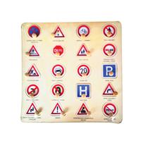 Trafik Puzzle Tutamaklı Ahşap