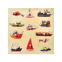 Deniz Araçları Puzzle Tutamaklı Ahşap